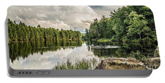 Portable Battery Charger featuring the photograph Reflection Lake In New York by Debbie Green