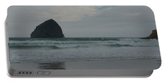 Reflection Of Haystock Rock  Portable Battery Charger by Susan Garren