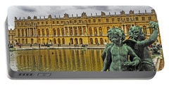 Reflection Pool Of Versailles Portable Battery Charger