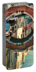 Reflection-venice Italy Portable Battery Charger by Tom Prendergast