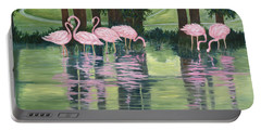Reflections In Pink Portable Battery Charger
