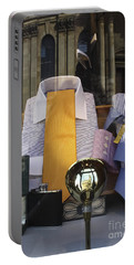 Portable Battery Charger featuring the photograph Reflections Of A Gentleman's Tailor by Terri Waters