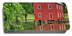 Reflections Of A Retired Grist Mill - Square Portable Battery Charger