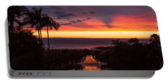 Sunset After Rain Portable Battery Charger by Denise Bird