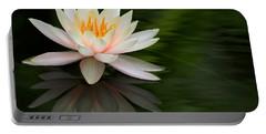 Reflections Of A Water Lily Portable Battery Charger