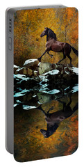 Reflections Of Fall Portable Battery Charger by Melinda Hughes-Berland