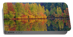 Reflections Of Fall Portable Battery Charger by Roger Becker