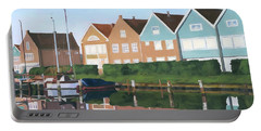 Portable Battery Charger featuring the painting Reflections Of Holland by Lynne Reichhart
