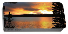 Reflections Of Sunset Portable Battery Charger by Athena Mckinzie
