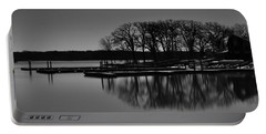 Reflections Of Water Portable Battery Charger by Miguel Winterpacht