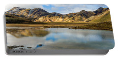 Reflections On Landmannalaugar Portable Battery Charger