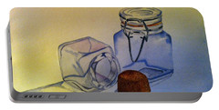 Reflective Still Life Jars Portable Battery Charger