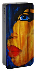 Portable Battery Charger featuring the painting Reign Over Me 3 by Michael Cross