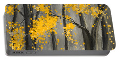 Rejuvenating Elements- Yellow And Gray Art Portable Battery Charger