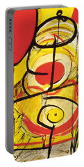 Portable Battery Charger featuring the painting Relativity 3 by Stephen Lucas