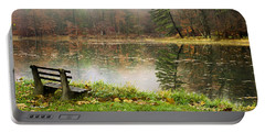 Portable Battery Charger featuring the photograph Relaxing Autumn Beauty Landscape by Christina Rollo