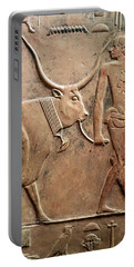 Relief Depicting A Peasant Leading A Cow To Sacrifice, From The Mastab Of Ptah-hotep Portable Battery Charger