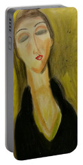 Sophisticated Lady With The Dreamy Eyes Portable Battery Charger