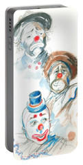 Remember The Clowns Portable Battery Charger by Mary Armstrong