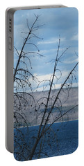 Portable Battery Charger featuring the photograph Remnants Of The Fire by Laurel Powell