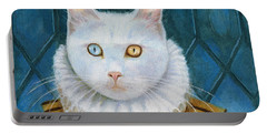 Portable Battery Charger featuring the painting Renaissance Cat by Terry Webb Harshman