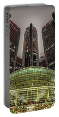Renaissance Center Detroit Michigan Portable Battery Charger