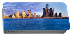 Renaissance Center, Detroit, Sunrise Portable Battery Charger