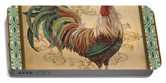 Renaissance Rooster-d-green Portable Battery Charger