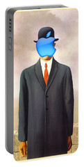 Rene Magritte Son Of Man Apple Computer Logo Portable Battery Charger