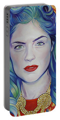 Portable Battery Charger featuring the painting Rene Taylor by Joshua Morton