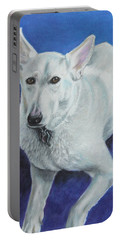 Portable Battery Charger featuring the painting Reno by Jeanne Fischer