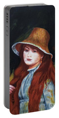 Renoir-young Girl In A Straw Hat Portable Battery Charger