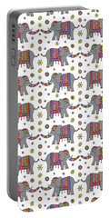 Repeat Print - Indian Elephant Portable Battery Charger