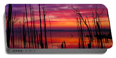 Reservoir At Sunrise Portable Battery Charger by Roger Becker