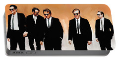 Portable Battery Charger featuring the painting Reservoir Dogs Movie Artwork 1 by Sheraz A