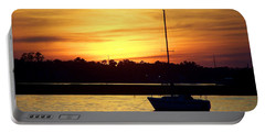 Portable Battery Charger featuring the photograph Resting In A Mango Sunset by Sandi OReilly