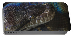 Reticulated Python With Rainbow Scales Portable Battery Charger