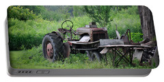 Portable Battery Charger featuring the photograph Retired Old Tractor by Gary Keesler