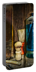 Retro Barber Tools Portable Battery Charger by Paul Ward