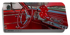 Retro Chevy Car Interior Art Prints Portable Battery Charger