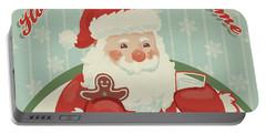 Retro Christmas X Portable Battery Charger