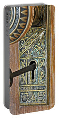 Retro Intricate Door Knob And Metal Key Art Prints Portable Battery Charger