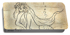 Retro Mermaid Portable Battery Charger