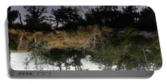 Reverse Reflection On A Crab Fishermans Canal Portable Battery Charger by Richard Rosenshein