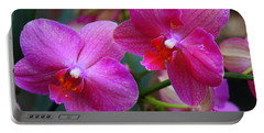 Portable Battery Charger featuring the photograph Rhapsody In Purple - Orchids by Dora Sofia Caputo Photographic Art and Design