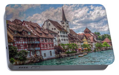Portable Battery Charger featuring the photograph Rhine Bank by Hanny Heim