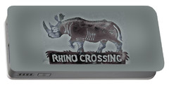 Portable Battery Charger featuring the photograph Rhino Xiv by Larry Campbell
