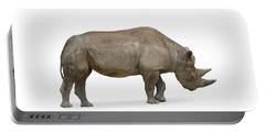 Portable Battery Charger featuring the photograph Rhinoceros by Charles Beeler