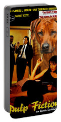 Rhodesian Ridgeback Art Canvas Print - Pulp Fiction Movie Poster Portable Battery Charger