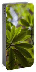 Rhododendron Leaves Abstract Portable Battery Charger